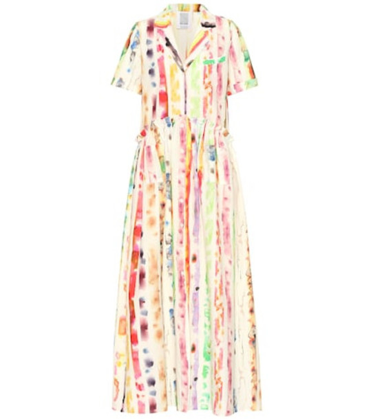 Rosie Assoulin Gathered cotton poplin shirtdress