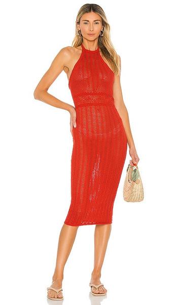 Lovers + Friends Lovers + Friends Rae Halter Dress in Red in crimson