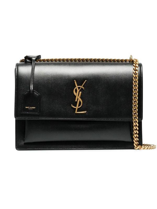 Saint Laurent medium Sunset leather bag in black