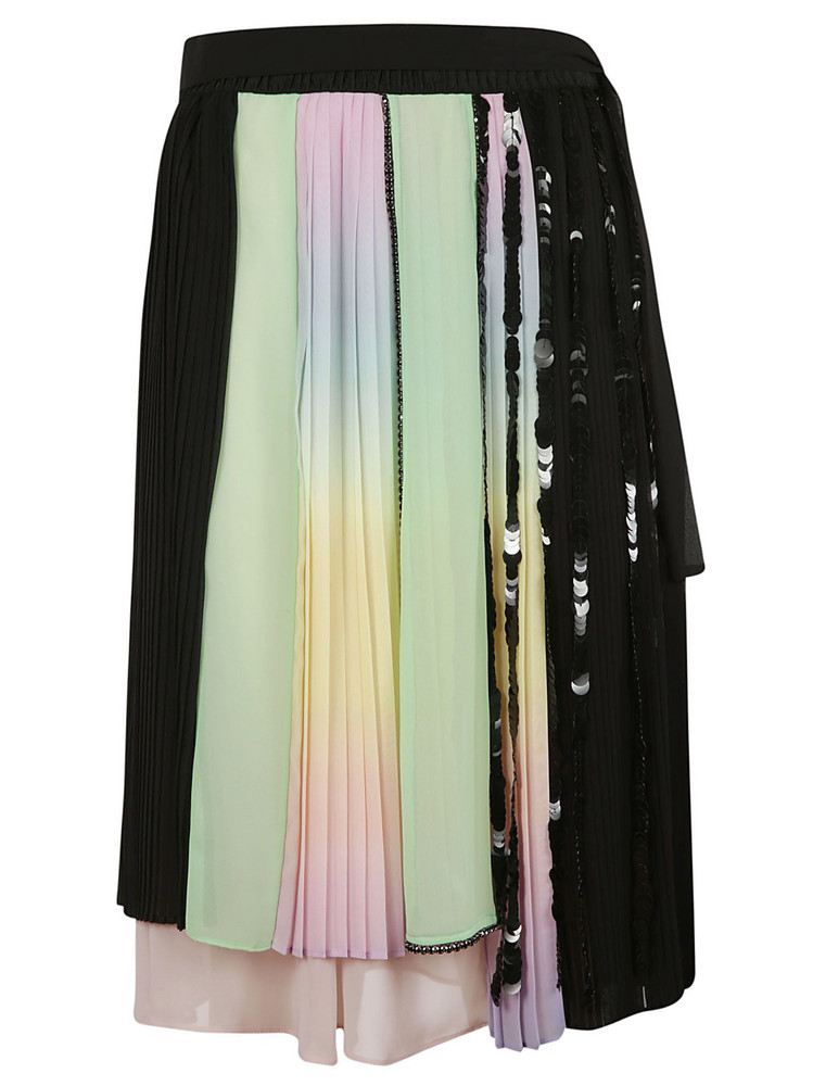 Marco De Vincenzo Asymmetric Midi Skirt in turquoise