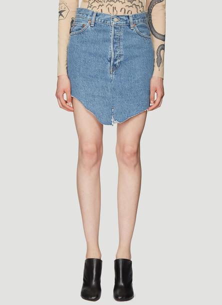 Vetements X Levi's® Denim Mini Skirt in Blue size XS