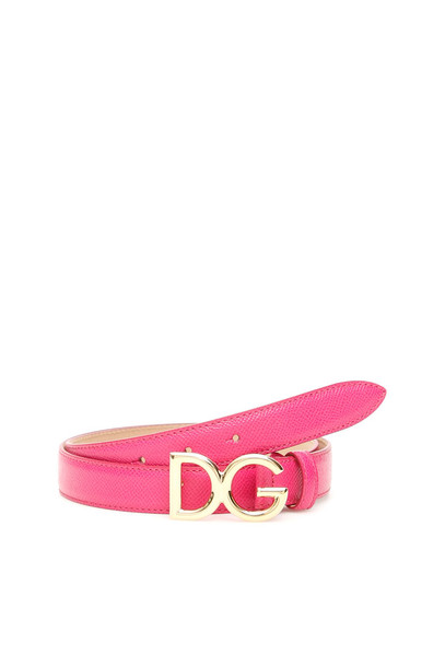 Dolce & Gabbana Dg Logo Belt in fuchsia