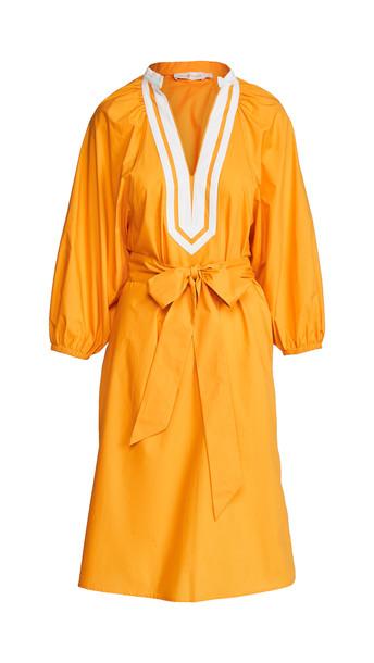 Tory Burch Puffed Sleeve Tunic Dress in orange