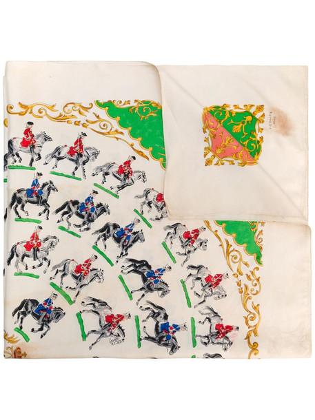 Hermès pre-owned printed scarf in neutrals