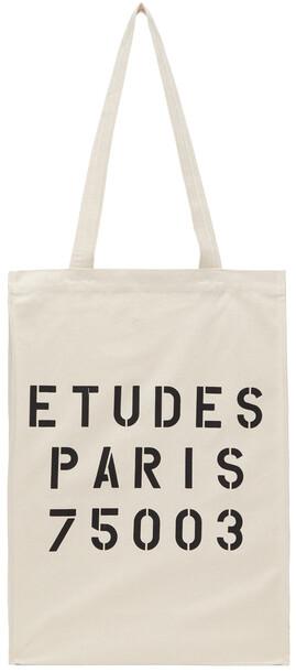 Études Études Off-White November Stencil Tote Bag