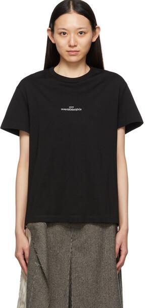 Maison Margiela Black Front Logo T-Shirt