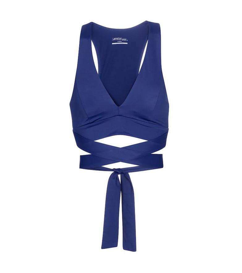 Lanston Sport Element sports bra in blue
