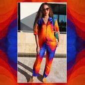 top,orange,pants,instagram,celebrity,beyonce