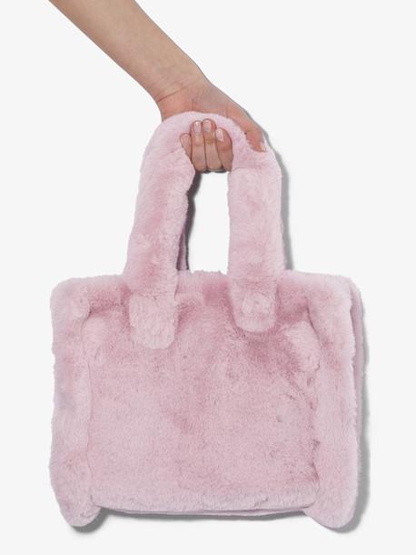 Stand Studio Purple Liz faux fur tote bag