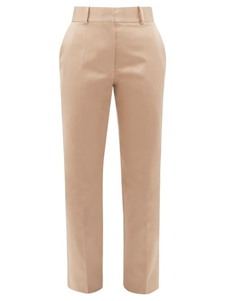 Haider Ackermann - Taroni Tailored Silk Satin Trousers - Womens - Cream