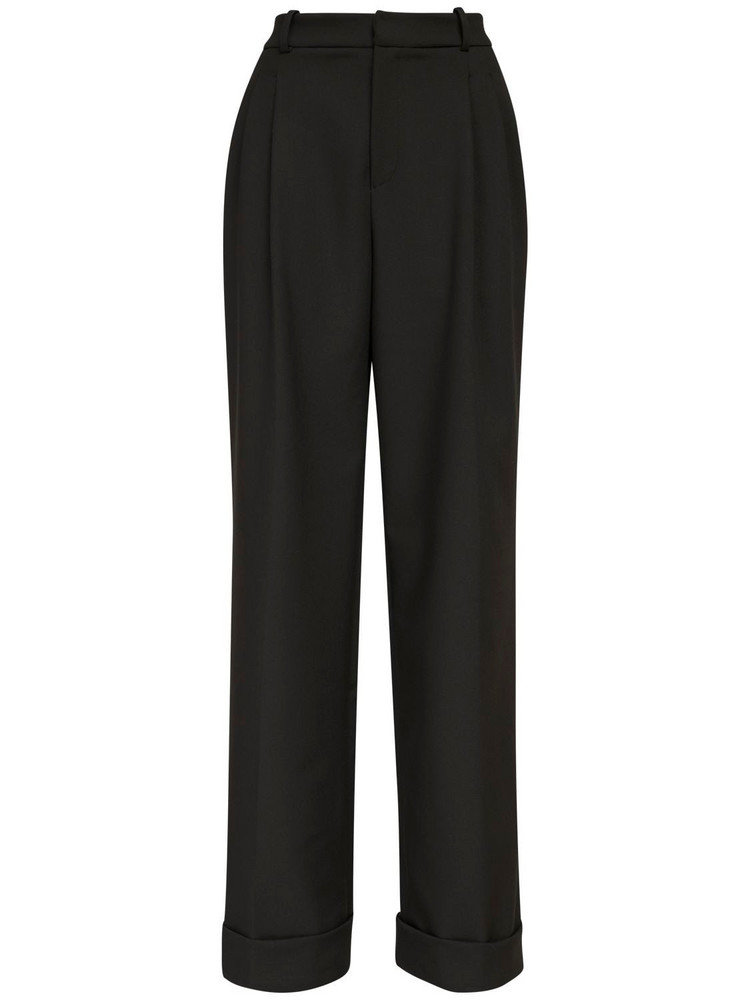 ÀCHEVAL PAMPA Gardel Gabardine Wide Leg Pants in black