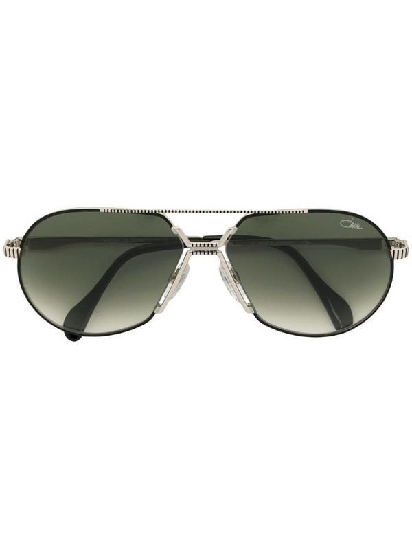 Cazal tinted aviator frame sunglasses in metallic