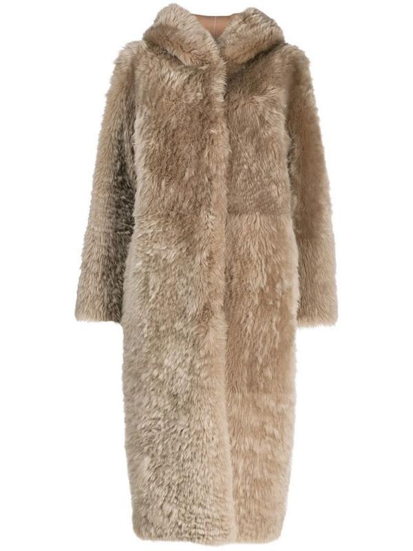 Liska Stampa coat in neutrals