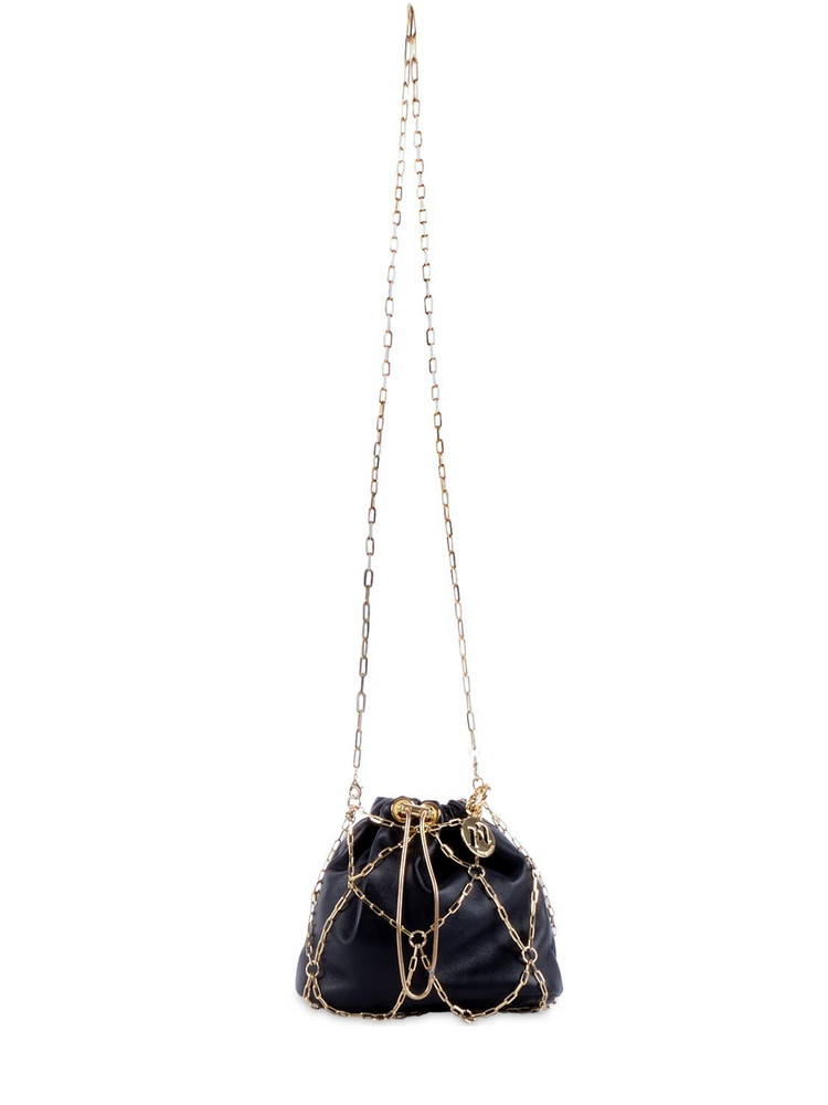 ROSANTICA Small Cage Leather Shoulder Bag in black