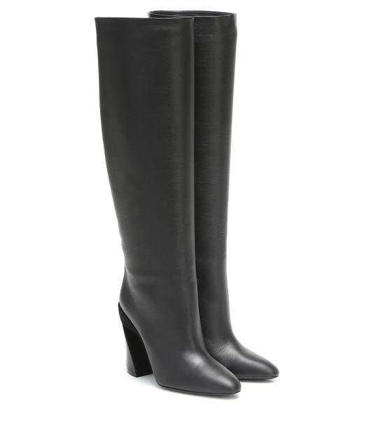 Salvatore Ferragamo Antea knee-high leather boots in black