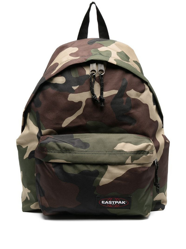 Eastpak camouflage-print zip-up backpack in green