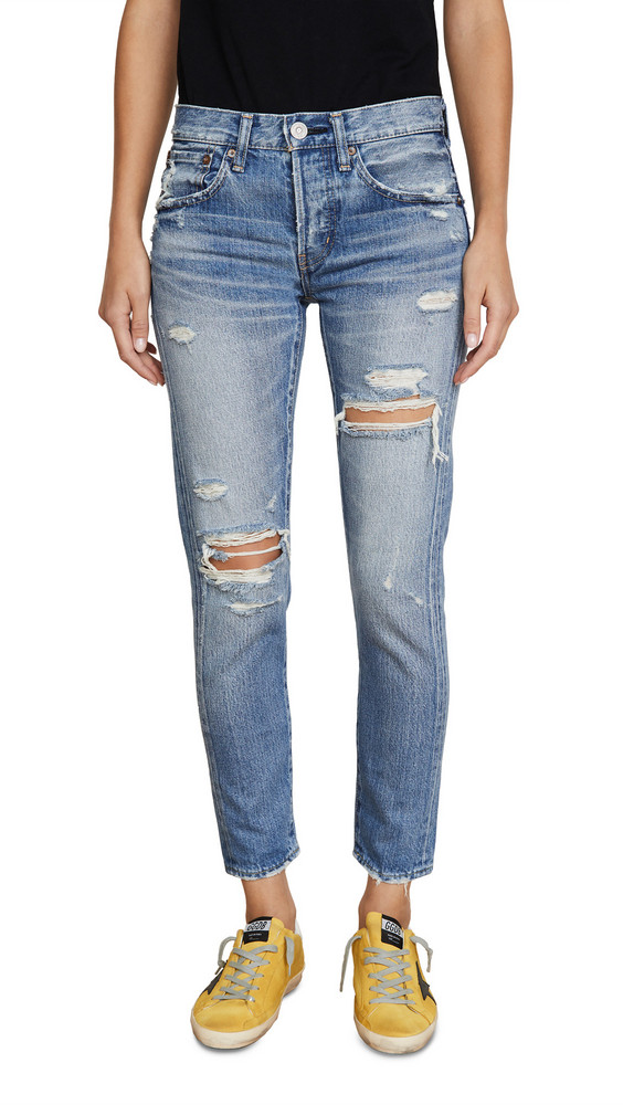 MOUSSY VINTAGE Bowie Tapered Jeans in blue