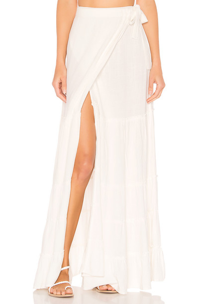 Lovers + Friends Fly Free Skirt in white