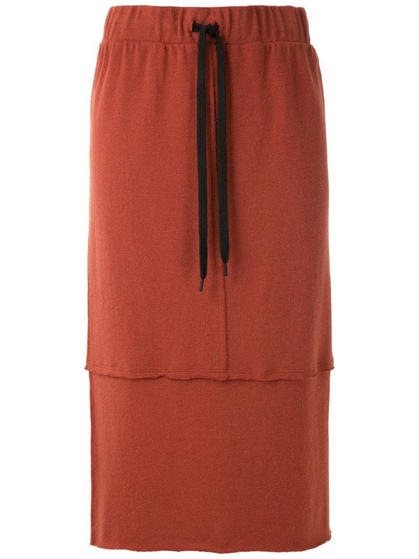 Uma - Raquel Davidowicz Meridien knit skirt in red