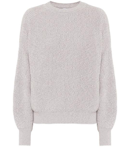 Max Mara Leisure Elisir cotton sweater in grey