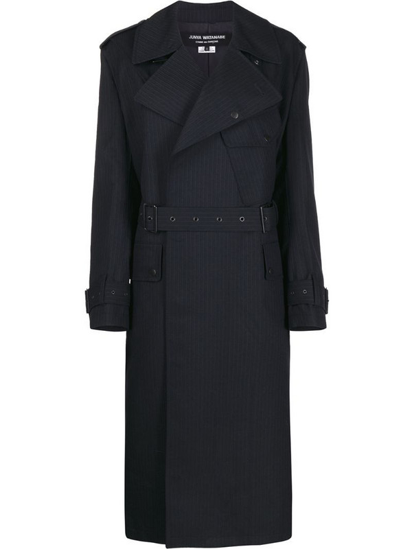 Junya Watanabe belted trench coat in blue