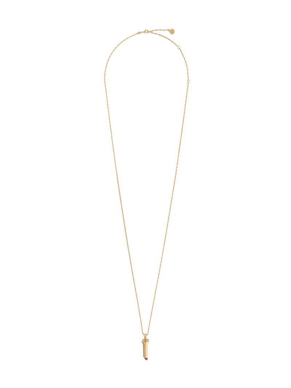 LANVIN lipstick pendant necklace in gold