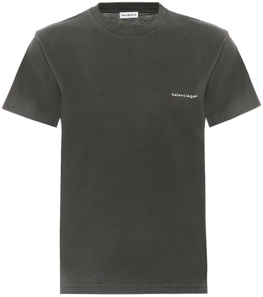 Balenciaga Logo cotton-jersey T-shirt in black
