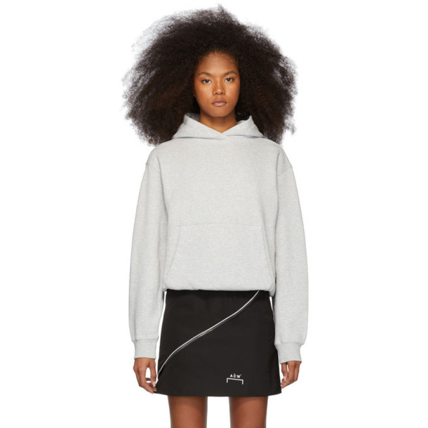 alexanderwang.t Grey Heavy French Terry Hoodie