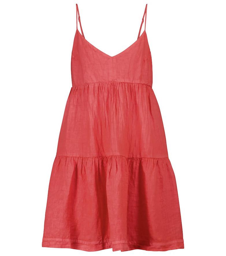 Velvet Emmy nylon minidress in red