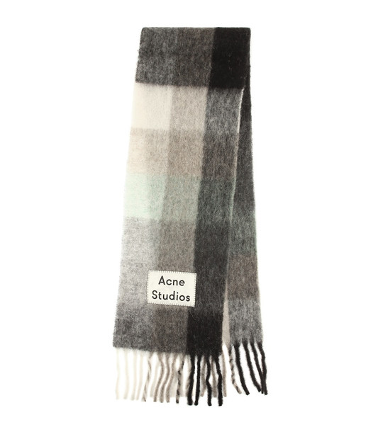 Acne Studios Alpaca, wool and mohair scarf in beige