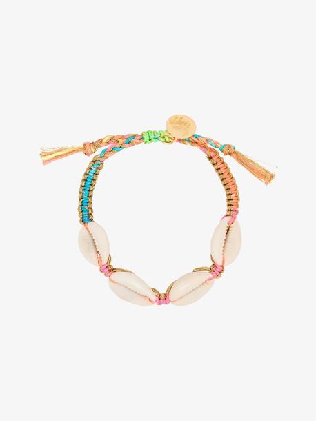 Venessa Arizaga multicoloured Fantasea rainbow shell bracelet in blue