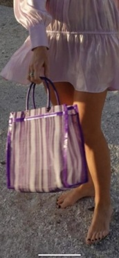 bag,stripes,purple,tote bag