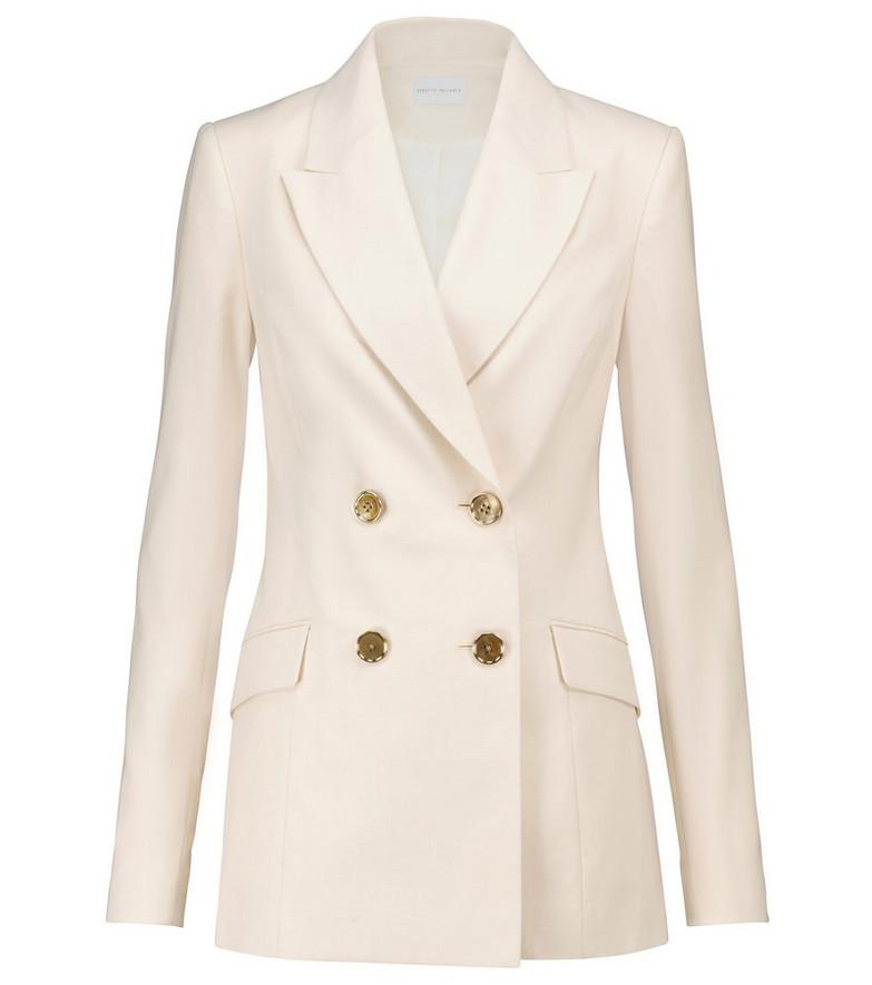 Rebecca Vallance Verano cotton and linen-blend blazer in beige