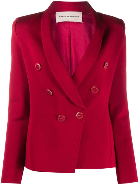 Alexandre Vauthier slim-fit double breasted blazer in red