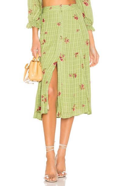 MAJORELLE Sunday Skirt in green