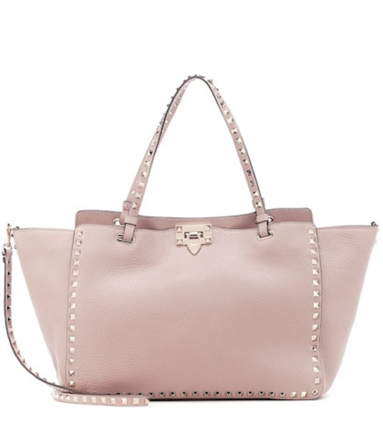 Valentino Garavani Rockstud leather tote in pink
