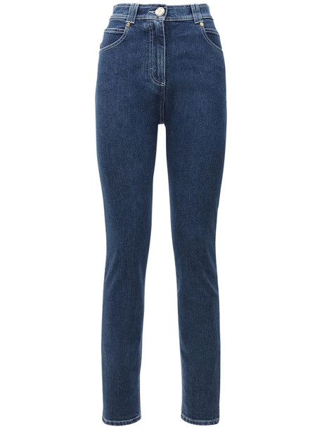 BALMAIN High Waist Skinny Jeans in denim / denim