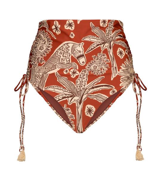 Johanna Ortiz Old Billy printed bikini bottoms in red