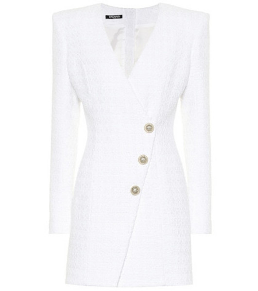 Balmain Tweed minidress in white