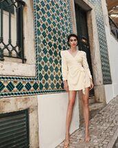 dress,mini dress,long sleeve dress,song of style,wrap dress,sandal heels