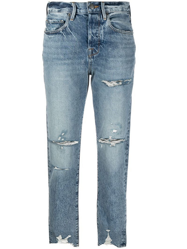 FRAME Le Original cropped jeans in blue