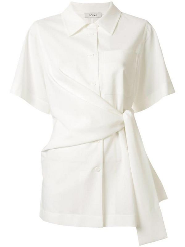 Goen.J knot detail shirt in white