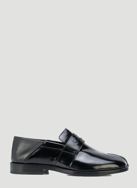Maison Margiela Tabi Leather Loafers in Black size EU - 40