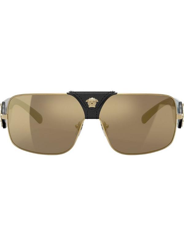 Versace Eyewear rectangle frame sunglasses in gold