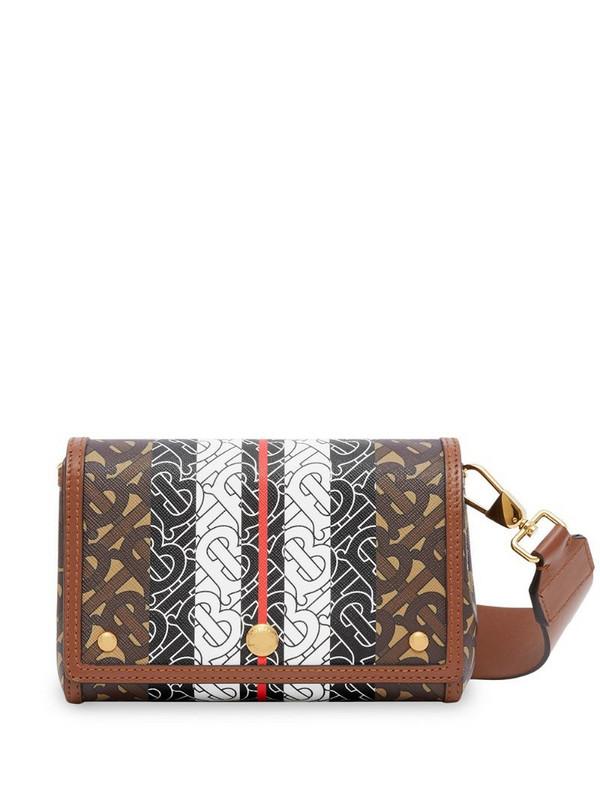 Burberry small monogram print cross-body bag in brown