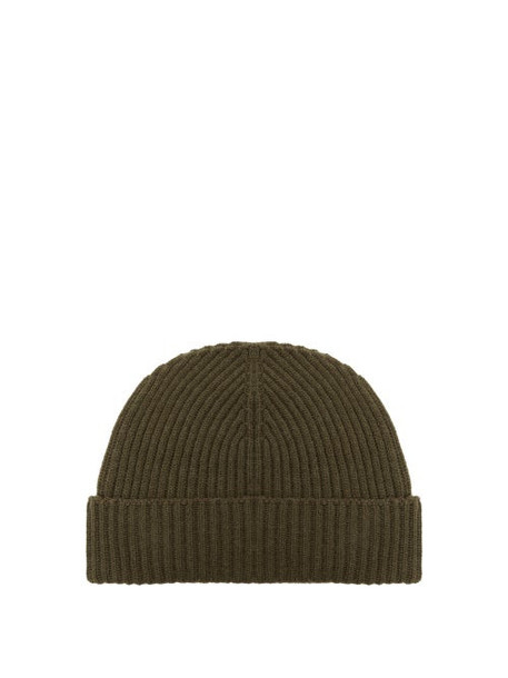 Johnston's Of Elgin - Ribbed Cashmere Beanie - Womens - Dark Khaki