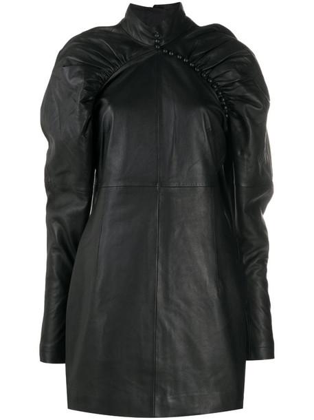 ROTATE gigot-sleeve mini dress in black