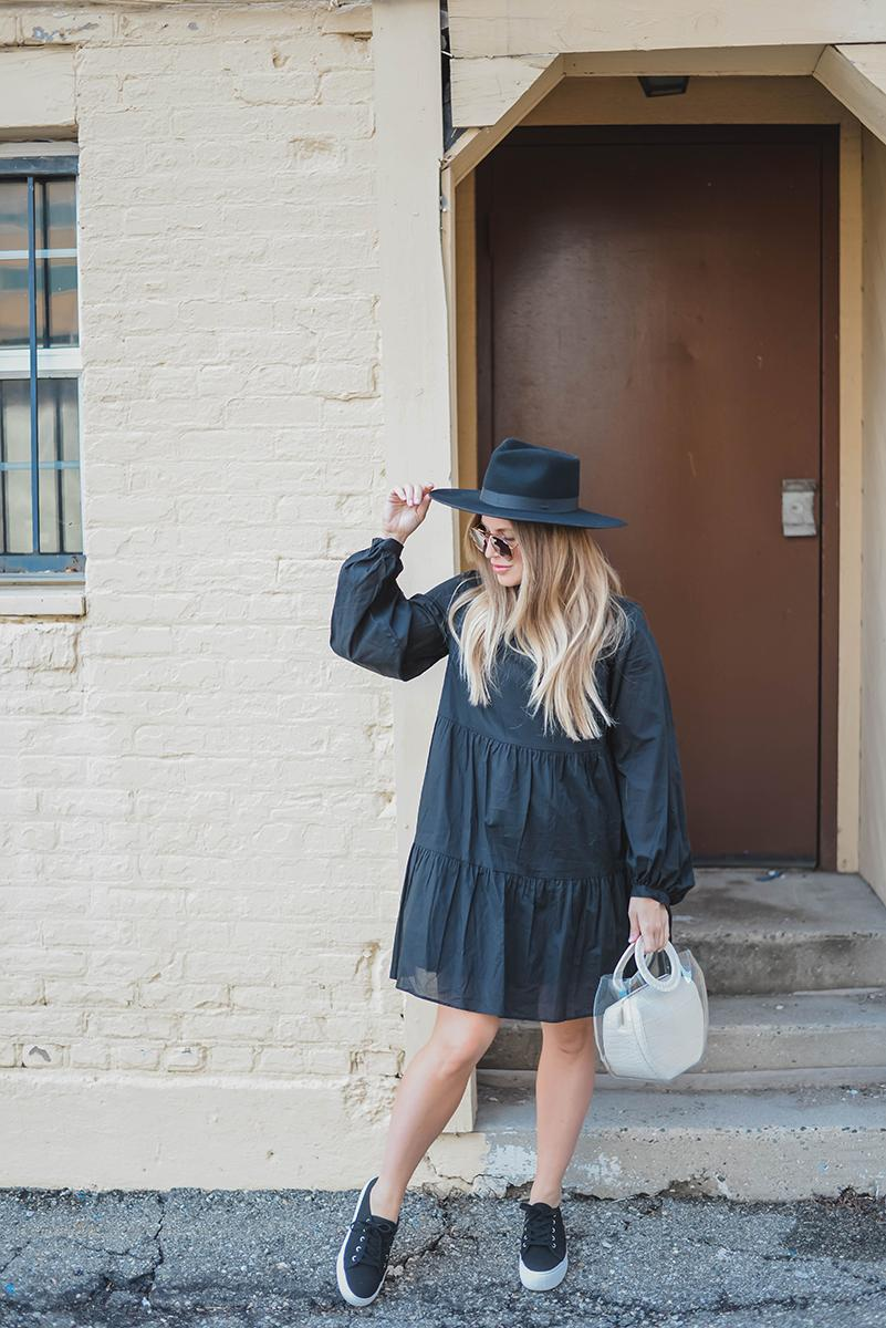 blonde bedhead blogger dress shoes bag hat sunglasses