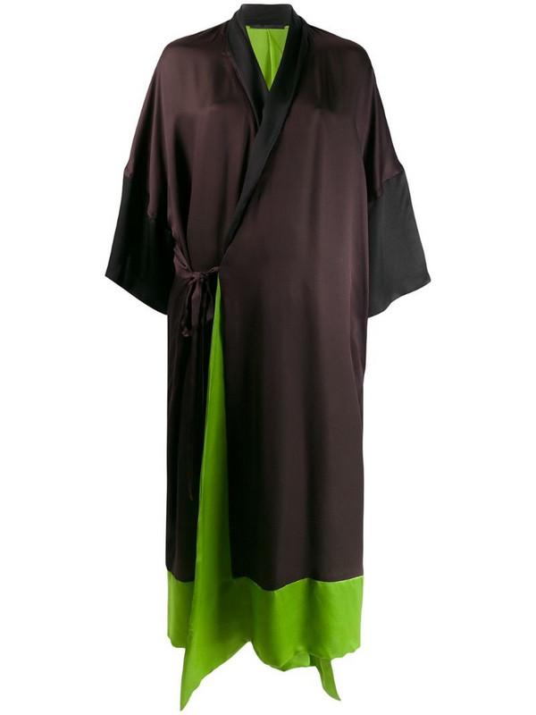 Haider Ackermann wrap front dress in black