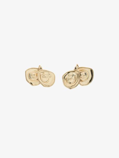 Ellery gold metallic pop XL breast earrings
